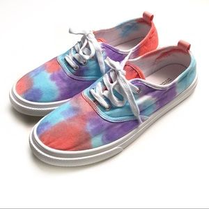 H&M Divided Canvas Tie Dye Sneakers Tennis Shoes